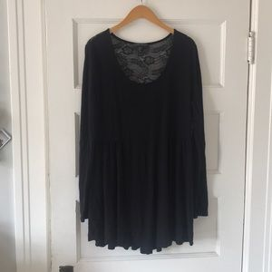 Forever 21 | 2X | Black Lace Tunic